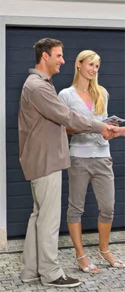 Satisfied garage door customers
